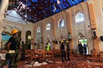 آثار الدمار في أحد المواقع المستهدفة بالتفجير