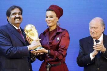 لحظة ترشيح قطر لاستضافة المونديال.