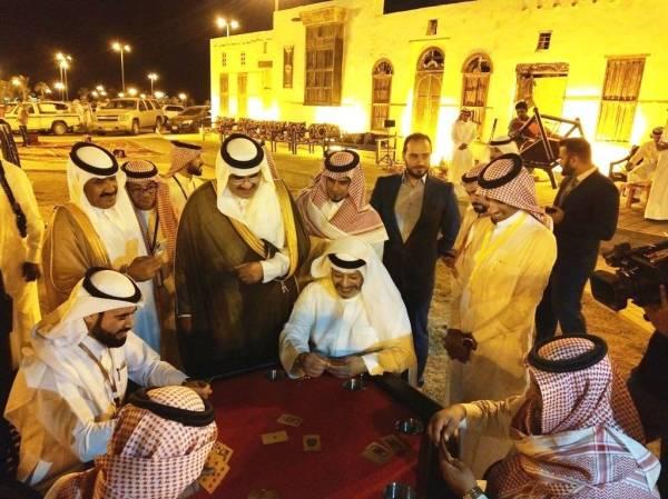 محافظ الوجه يتابع إنطلاق دوري البلوت في مهرجان «أهلاً رمضان بالوجه زمان 3» تصوير: عباس الفقيه