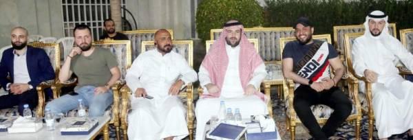 الفنان العراقي محمد سالم في ضيافة الأمير عبدالله بن سعد