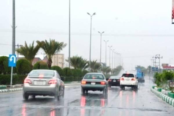أمطار غزيرة شهدتها بعض محافظات الباحة.