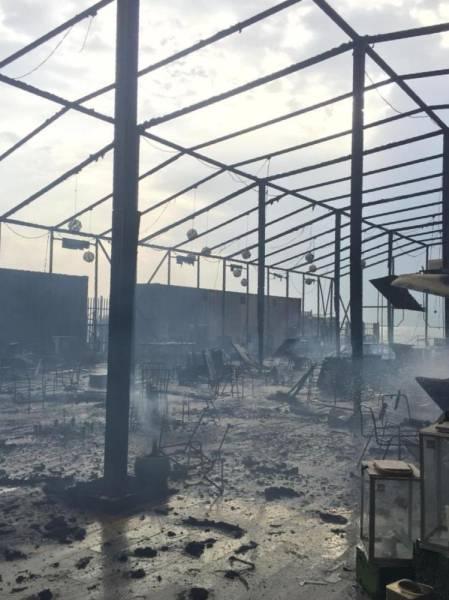 حريق يلتهم خيمة رمضانية في الخبر