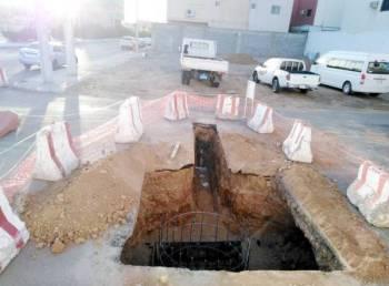حفريات المشروع اربكت السير