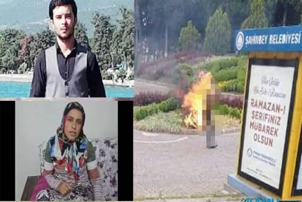 تركي يحرق نفسه بسبب البطالة.. وزوجته: سأدعو على أردوغان لآخر نفس