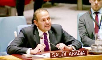 القائم بأعمال وفد المملكة الدائم لدى الأمم المتحدة بالإنابة المستشار الدكتور خالد منزلاوي.