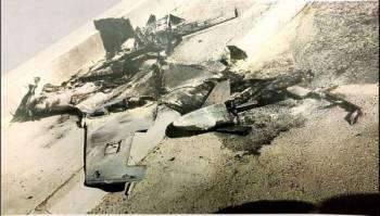 الطائرة الحوثية التي أسقطتها قوات الدفاع الجوي.
