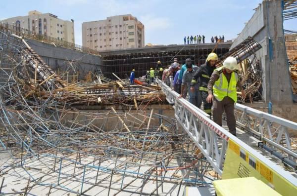 تبوك: انهيار سطح نفق تحت الإنشاء يصيب 10 عمال
