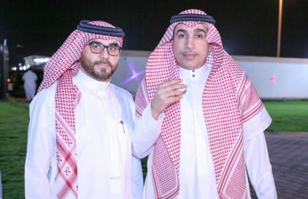 حاتم خيمي وباسم خياط في مناسبة وحداوية سابقة.