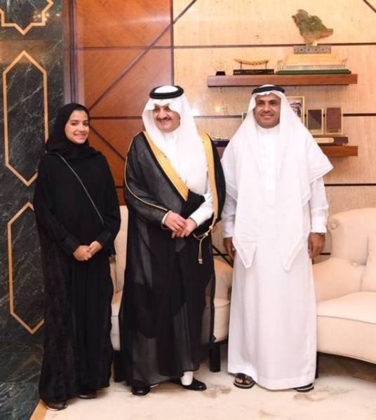 «سعود بن نايف» يستقبل الفائزة بالمركز الثالث في مسابقة «أنتل أيسف»