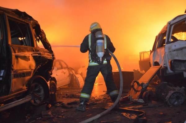 إخماد حريق في تشليح بريمان دون إصابات