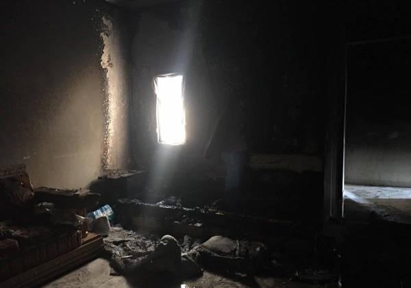 إصابة طفلين بحريق شقة سكنية في ينبع
