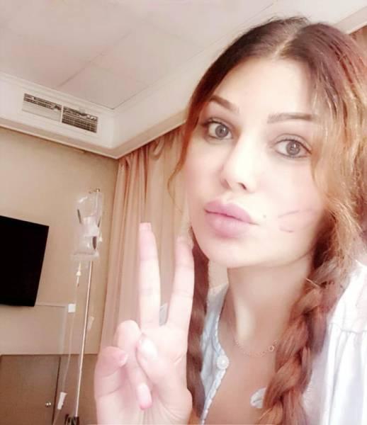 هيفاء وهبي من المستشفى.
