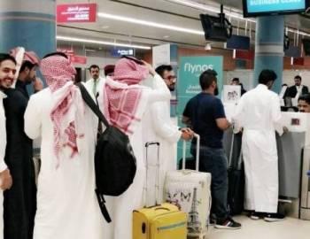 مغادرون ينهون إجراءات السفر. (تصوير: المحرر)