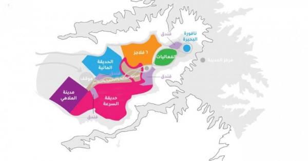 «القدية» تزيح الستار عن مخططها العام: 5 مناطق تطويرية عالمية