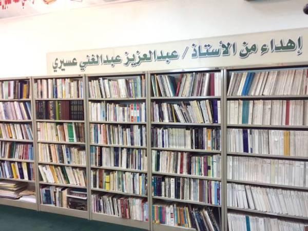 جانب من مكتبة نادي الطائف الأدبي.