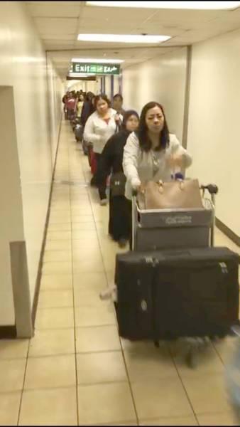 خادمات الخروج والعودة يدخلن مباشرة عبر صالة القدوم. (عكاظ)
