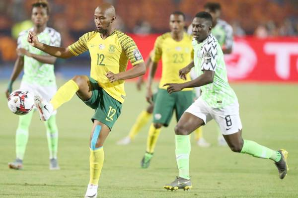 منتخب نيجيريا يقصي جنوب أفريقيا.