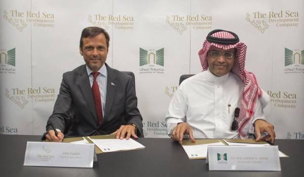 «جامعة تبوك» توقع مذكرة تعاون مع «شركة البحر الأحمر»