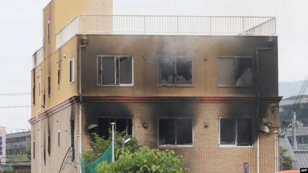 حريق يلتهم مبنى كيوتو أنيميشن.