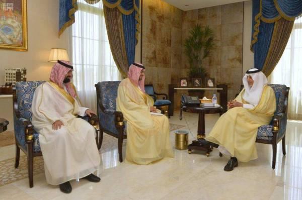أمير منطقة مكة يستقبل محافظ الهيئة العامة للجمارك