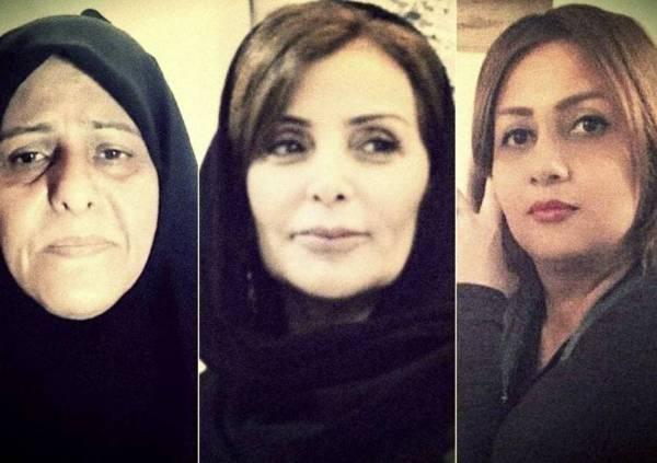 الناشطات الإيرانيات المعتقلات، فاطمة سبهري وحورية فرج زادة ونرجس منصوري (متداولة)