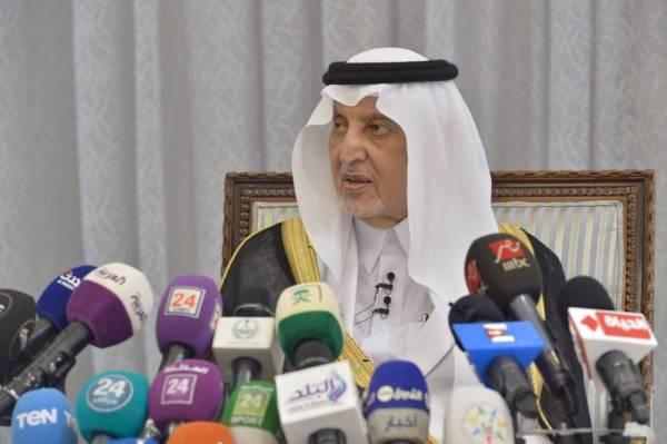 الأمير خالد الفيصل في المؤتمر الصحفي