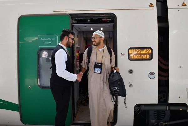 المدينة المنورة تستقبل أولى رحلات قطار الحرمين المخصصة لضيوف الرحمن