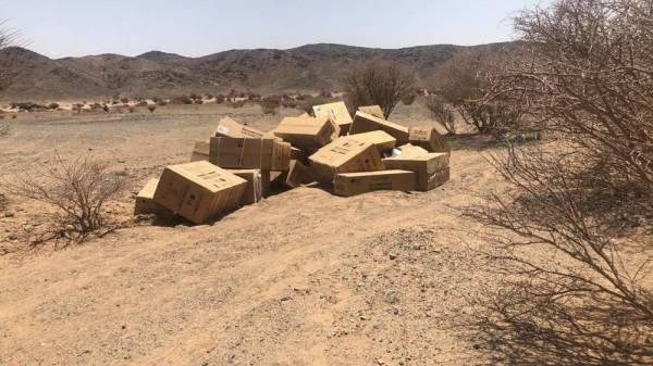 المكيفات المسروقة على طريق صحراوي
