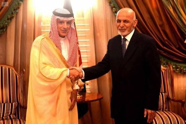 رئيس جمهورية أفغانستان الإسلامية يستقبل الجبير