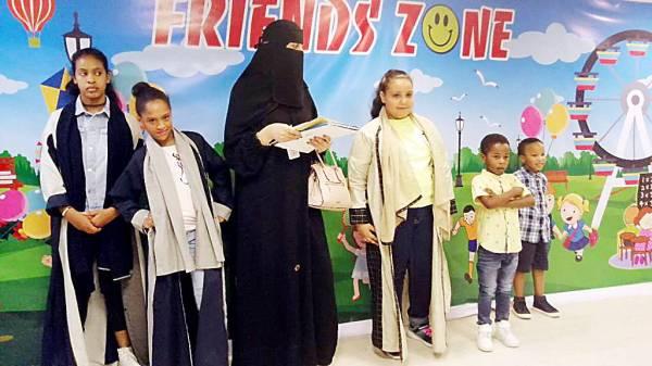 أطفال في مؤسسة «إخاء».