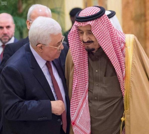 خادم الحرمين الشريفين يؤكد في كل المناسبات أن القضية الفلسطينية أولى اهتمامات السعودية.