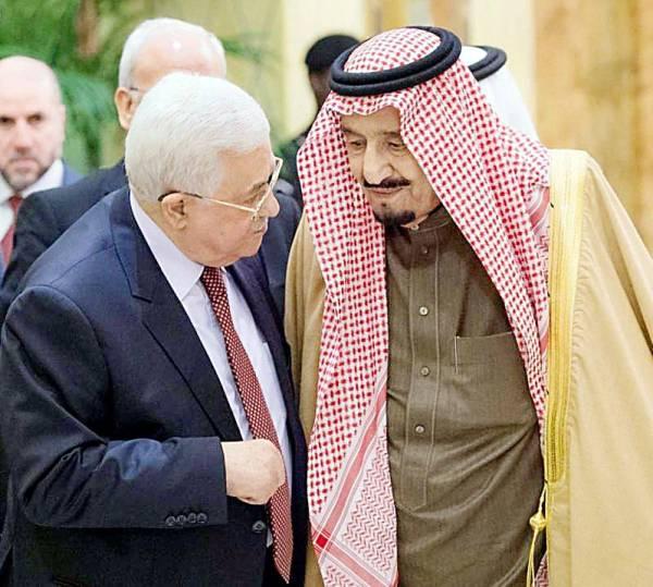 خادم الحرمين الشريفين يؤكد في كل المناسبات أن القضية الفلسطينية أول اهتمامات السعودية.