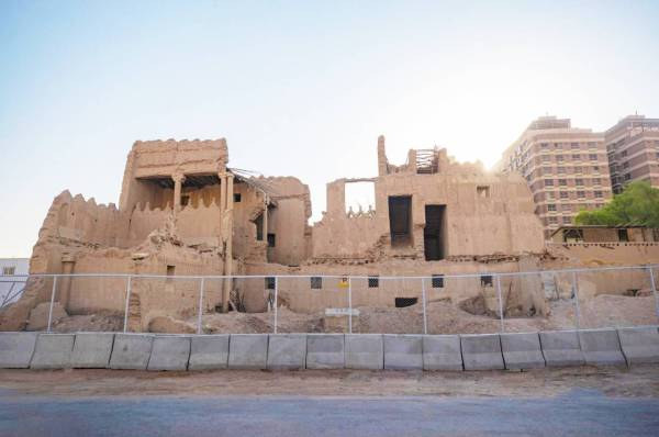 قصر الشمسية الواقع بالقرب من حي المربع.