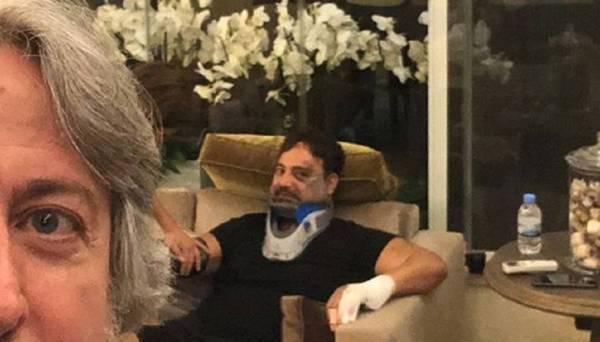 جمال فياض مطمئنا جمهور عاصي الحلاني عقب إصابته