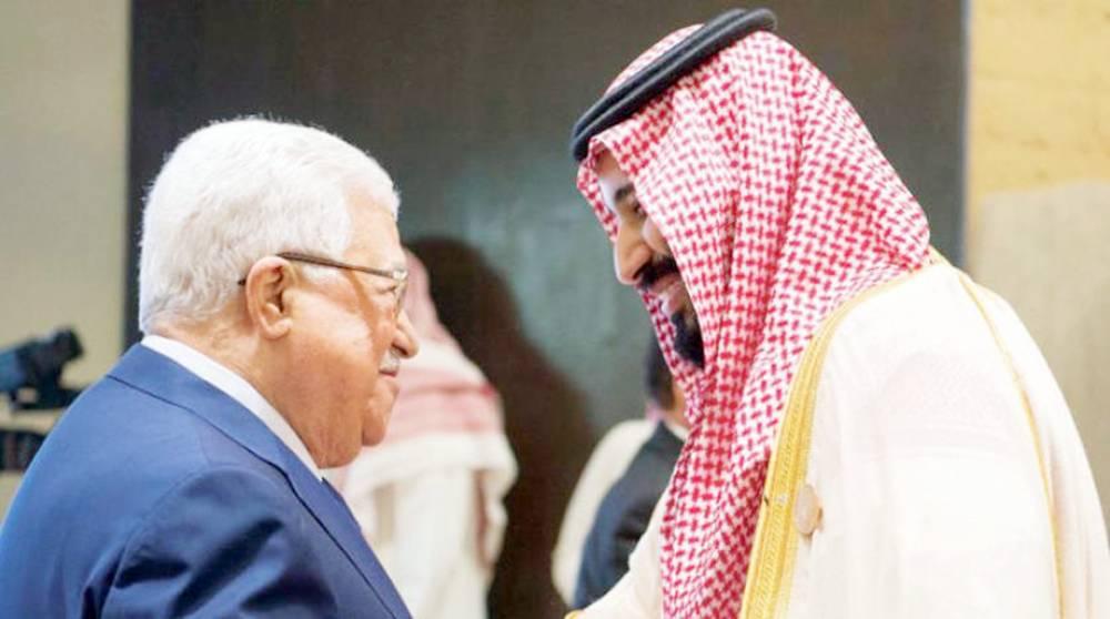 ولي العهد في لقاء سابق مع الرئيس الفلسطيني.
