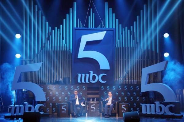 مسؤولو قناة MBC أثناء الإعلان عن القناة الجديدة.