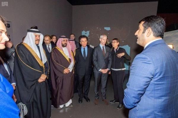 سلطان بن سلمان يحضر حفل افتتاح معرض العلا في باريس