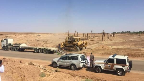 «أمانة الجوف» تزيل 20 ألف متر تعديات على أراضٍ حكومية
