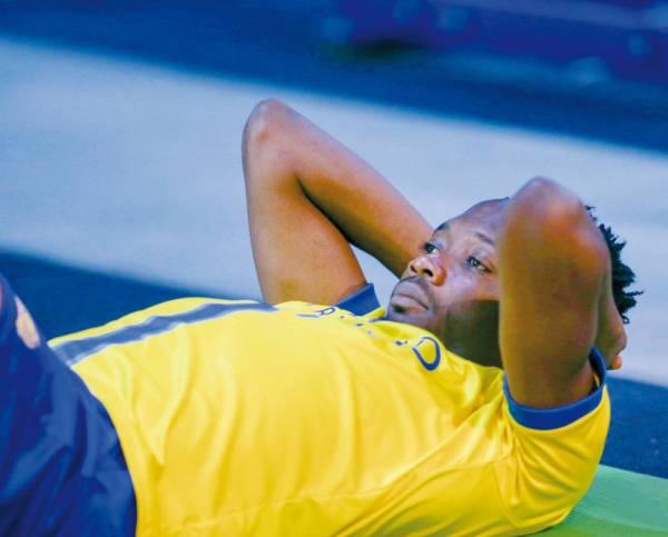 النيجيري أحمد موسى في عيادة النادي.