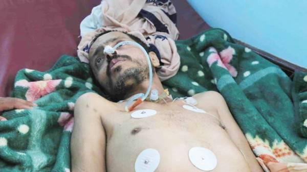 المختطف المحرر من سجون الحوثيين عبدالله الشنفي. متداولة