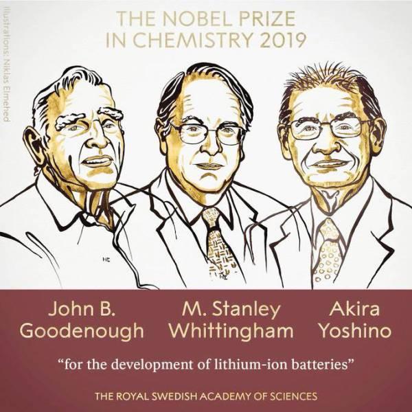 الفائزون الثلاثة في بروشور نشرته الأكاديمية السويدية أمس.
