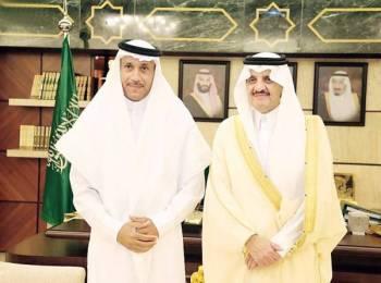 الأمير سعود بن نايف مع الفزيع.