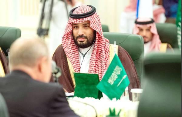 الأمير محمد بن سلمان والرئيس بوتين خلال جلسة المباحثات الرسمية أمس.
