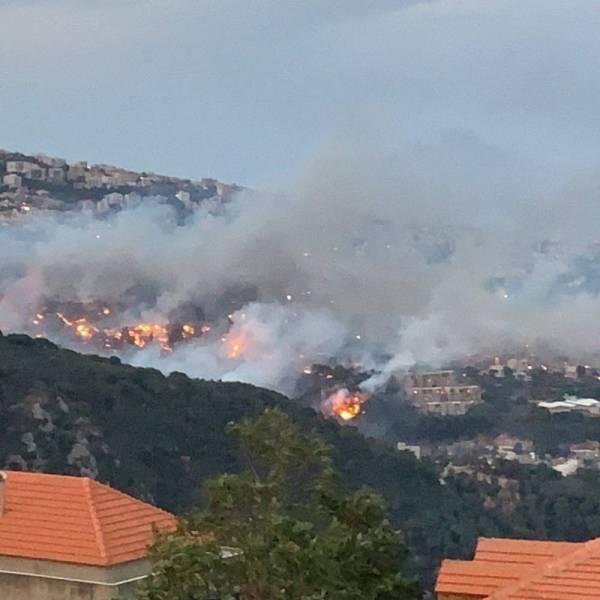 مئات الحرائق تجتاح لبنان بسبب «الحر»