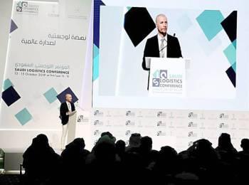 أحد المتحدثين خلال المؤتمر أمس.