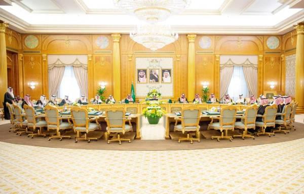 جانب من جلسة مجلس الوزراء أمس في قصر اليمامة.