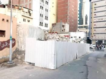 بقايا قصر الحريقي بعد هدمه.