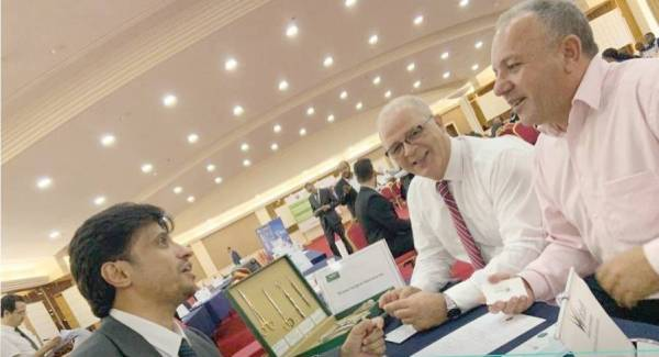 جانب من مشاركة المصدرين السعوديين في ملتقى مطابقة الأعمال الأفريقي.