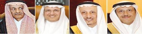زياد وعبدالمحسن ونجيب وسعد أبناء عبداللطيف علي العيسى.