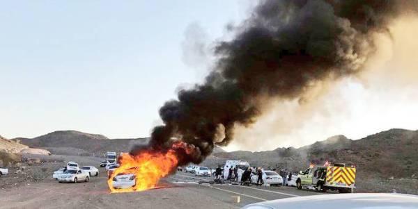 حادثة سير وقعت على طريق قريضة.
